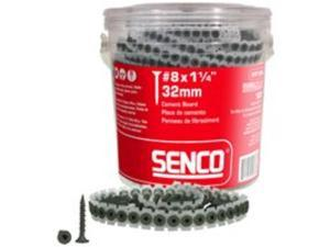 SENCO 08T125W 8-Gauge 1-1/4 in. Collated Cement Board Screws (1,000-Pack)