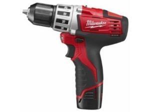 Milwaukee Electric Tool - 2407-22 - Milwaukee Tools 2407-22 M12u2122 Drill/Driver Kit; 12 Volt, 7.375 Inch Length x 3/8 Inch Chuck, 275 Inch-lb Torque, Redlithiumu2122 Battery