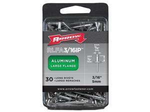 Arrow Fastener Co. .19in. Large Flange Aluminum  Rivets  RLFA.19IP