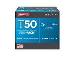 Arrow T50 Pro-Pack Heavy-Duty Staple, 1/4 In. (5000-Pack) 504IP