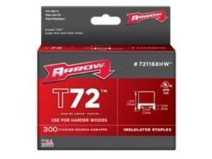 Arrow Fastener 721168HW T72 31/64 Inch (12mm) Natural Staples, 300/Pk