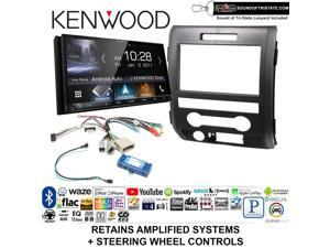 Kenwood DNX574S Double Din Radio Install Kit w/GPS Navigation Apple CarPlay  Android Auto Fits 2002-2005 Explorer, 2001-2004 Mustang + Sound of