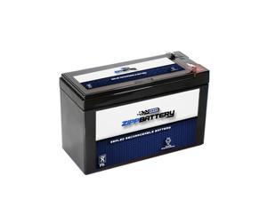 12V 9.2AH 111W Sealed Lead Acid (SLA) Battery - T2 Terminals by Zipp Battery