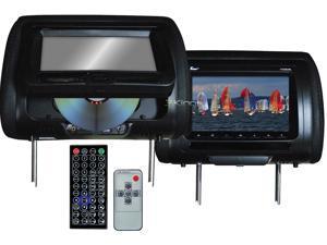 "New Pair Tview T737dvpl-Bk 7"" Headrest Monitors Car Video Headrest Monitor Black"