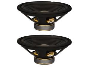 """2 Goldwood Sound GW-210/8 OEM 10"""" Woofers 220 Watts each 8ohm Replacement Speakers"""