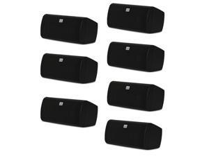 Acoustic Audio AA35CB Indoor 3 Way Speakers 2800 Watts Black Bookshelf 7 Speaker Set AA35CB-7S