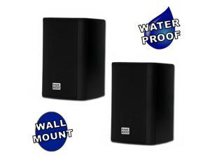 Acoustic Audio by Goldwood AA351B 2 Way High Performance Indoor Outdoor 500W Speakers with Powerful Bass (1 Pair, Black)