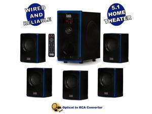 Acoustic Audio AA5102 Bluetooth 5.1 Speaker System with Optical Input Home Theater