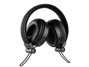 Frisby FHP-920 Compact Lightweight On-Ear Headphones W/ Volume Control & Microphone In-Line