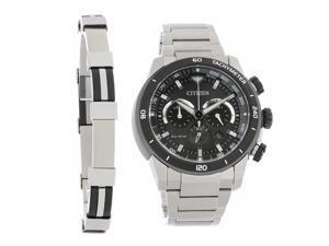 Citizen Eco-Drive Mens Ecosphere Series Chronograph Watch CA4150-67E