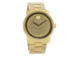 Movado Bold Series Mens Gold Tone PVD Steel Swiss Quartz Watch 3600665