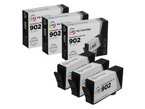 LD Replacements for HP 902 / T6L98AN Standard Yield Black Ink Cartridge 3-Pack for OfficeJet 6951, 6954, 6958, 6962, 6975 & OfficeJet Pro 6958, 6961, 6968, 6970, 6971, 6975, 6978