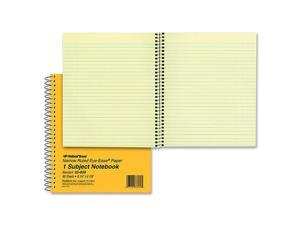 Subject Wirebound Notebook Narrow Rule 8 1/4 x 6 7/8 Green 80 Sheets