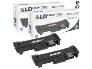 ld compatible samsung mltd118l set of 2 high yield black toner cartridges for m3015dw and m3065fw 4,000 page yield
