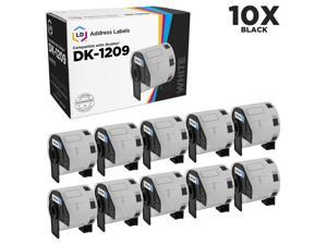 LD Compatible Replacement for Brother DK-1209 10-Rolls of White Address Labels for P-Touch QL-1050, QL-1050N, QL-1060N, QL-500, QL-550, QL-570, QL-570VM, QL-580N, QL-650TD, QL-700, QL-710W, QL-720NW