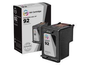 LD © Remanufactured Replacement Ink Cartridge for Hewlett Packard C9362WN (HP 92) Black