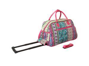 All-Seasons Artisan Prints 21-inch Carry-On Rolling Duffel Bag ... 488fdef261478