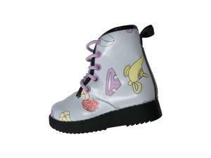 Disney Toddler Girls Blue Princess Zip Work Style Ankle Boots 8