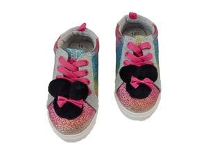Disney Toddler Girls Minnie Mouse Rainbow Glitter Sneakers Tennis Shoes 10