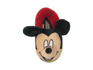 Disney Toddler Boys Mickey Mouse Loafer Slippers Black & Red House Shoes 5-6