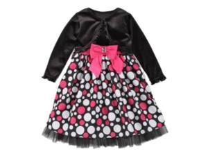 684832082c2 Youngland Infant Toddler Girls Black Pink Dots Party Dress ...