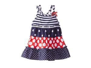 75db69b5eb2 YOUNGLAND Infant Girls Patriotic Striped Ruffled Dress Polka Dot Sundress  12m