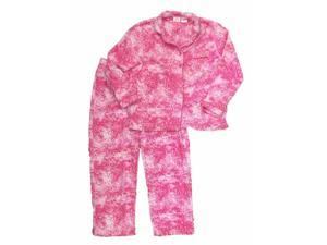 Soft Sensations Womens Pink Flower Paisley Fleece Pajamas PJs Lounge Sleep  Set 67b03aea7