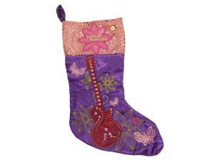 Purple Satin Musical Hannah Montana Christmas Stocking Miley Cyrus Guitar