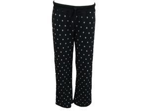 Soft Sensations Womens Black Polka Dot Fleece Sleep ... 5fcc5db43