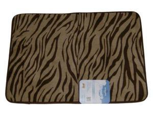 Mohawk Cloud Luxurious Memory Foam Brown Zebra Bath Mat Skid Resistant Throw Rug