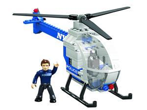 Mega Bloks World Builders NYPD Police Chopper Helicopter Building Set 97845