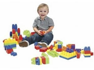 Lets Play Toddler Building Block Set 100 Pieces with Bag