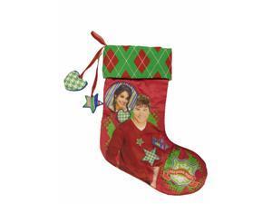 Disney HSM Red Satin High School Musical Christmas Holiday Stocking Zac Efron