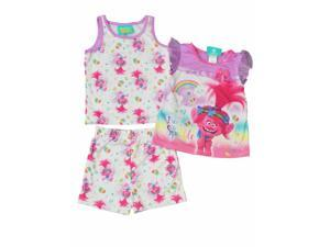 2f7597719a Dreamworks Toddler Girls Pink Poppy Trolls Sleeper Pajamas ...