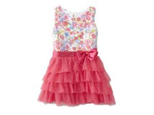 1624630b1e6 Nannette Infant Girls Hot Pink Flower Print Dress Ruffle Skirt Summer  Sundress