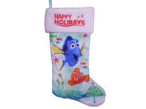 Disney Finding Nemo Blue Satin Dory Christmas Holiday Stocking