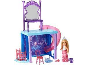 Barbie Dreamtopia Chelsea Doll and Vanity Playset With Slide & Elevator