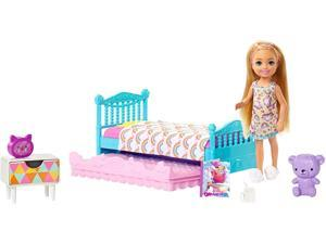 Barbie Club Chelsea Doll & Bedtime Playset with Bed