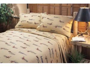 Columbia Sportwear Full Size Cockbird Sheets Double Bed Sheet Set with Pheasants