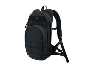 Rothco Quickstrike Narrow Profile Tactical Backpack, Hydration Compatible, Black