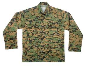 Woodland Digital Camo BDU Shirt, Large