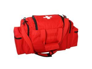 Rothco EMT Medical Trauma Kit, EMT Bag w/Over 200 First Aid Supplies, Red
