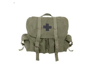 Rothco Vintage Olive Drab Compact Weekender Backpack With Black Cross