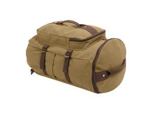 """Rothco Convertible 19"""" Canvas Duffle/Backpack, Travel Bag, Coyote & Brown"""