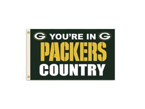 Fremont Die Inc Green Bay Packers Flag With Grommetts Flags