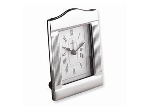 Silver-plated Alarm Clock - Engravable Personalized Gift Item