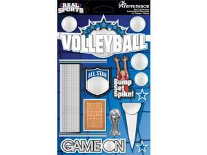 Real Sports Dimensional Cardstock Stickers-Volleyball