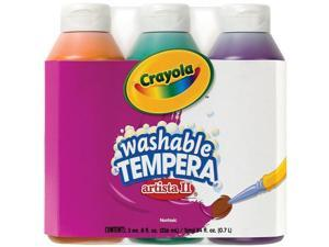 Crayola Artista II Washable Tempera Paint 8oz 3/Pkg-Secondary