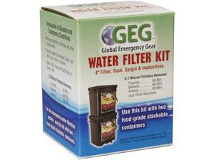 """PS Products Water Filter Kit, 4"""" Filter, Sock, Spigot, & Instructions GEGK4X4"""