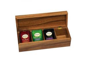 Lipper International 1128 Acacia Tea Box with 4 Sections